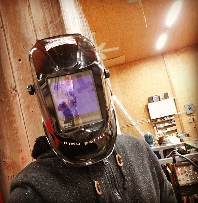 Amateur welding tip... If you haven't worn your helmet in months, check it for spiders before putting it on your head.